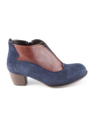 VA Milano Reißverschluss-Stiefeletten blau-braun Casual-Look