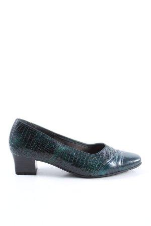 VA Milano Loafers green-black allover print wet-look