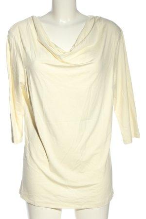 VA Milano Koszulka z dekoltem woda kremowy W stylu biznesowym