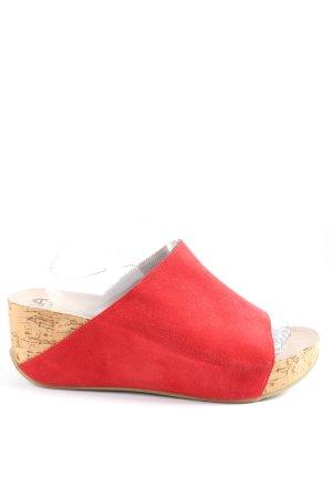 VA Milano Sandalo toe-post rosso stile casual
