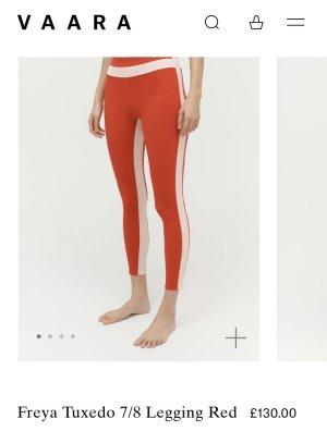 Legginsy czerwony-w kolorze białej wełny