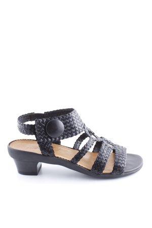 Vabeene Riemchen-Sandaletten schwarz Casual-Look