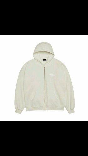 Vacid Veste à capuche crème-blanc coton