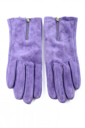 Vackpot Faux Leather Gloves lilac casual look