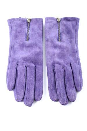 Vackpot Handschoenen van imitatieleder lila casual uitstraling