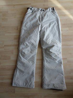 Pantalón de esquí gris claro-gris tejido mezclado