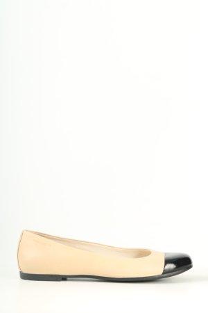 Vagabond faltbare Ballerinas creme-schwarz Casual-Look