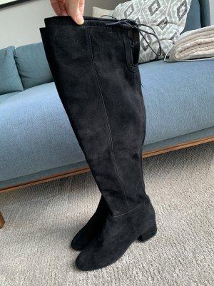 Vagabond Botas sobre la rodilla negro Cuero