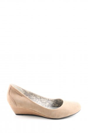 Vagabond Keil-Pumps creme Casual-Look