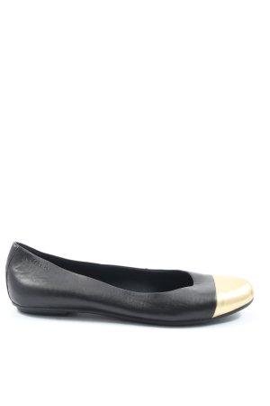 Vagabond Klassische Ballerinas schwarz-goldfarben Casual-Look
