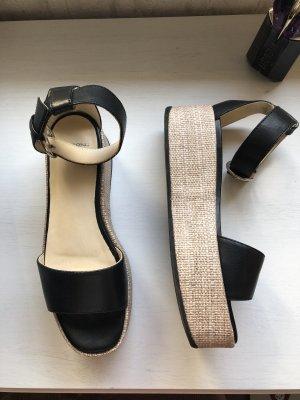 Vagabond Platform Sandals black-beige