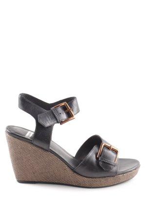 Vagabond Sandales à talons hauts et plateforme brun-noir style d'affaires