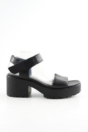 Vagabond Sandales à talons hauts et plateforme noir style décontracté