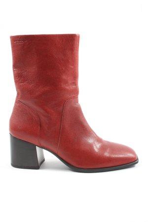 Vagabond Reißverschluss-Stiefeletten rot Casual-Look