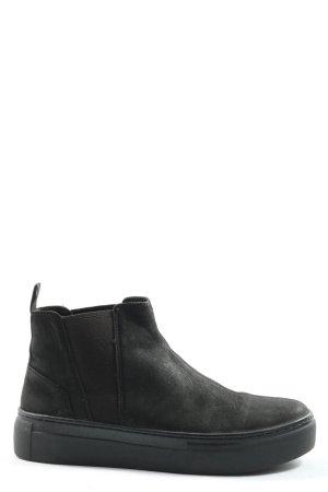 Vagabond Wciągane buty za kostkę czarny W stylu casual