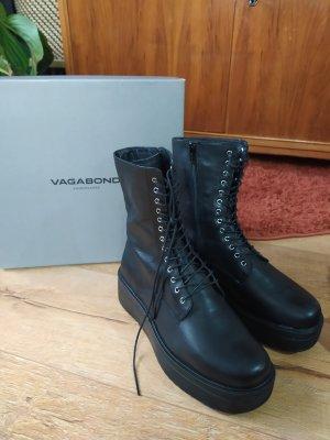 Vagabond Aanrijg laarzen zwart Leer