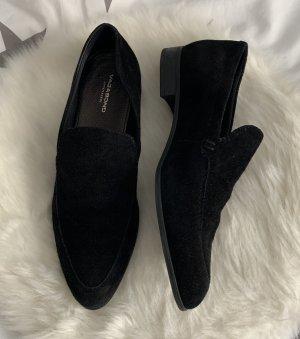 Vagabond Velour Leder Loafer 37 schwarz