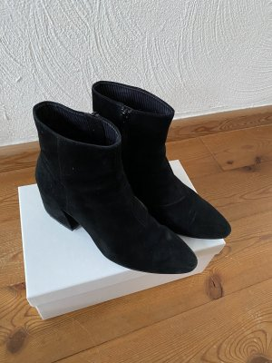 Vagabond velour wild leder Schuhe 38 Stiefel Stiefelette schwarz