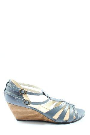 Vagabond Wedge Sandals blue casual look