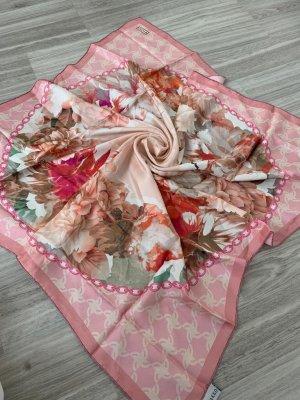 vakko Bufanda de seda color rosa dorado