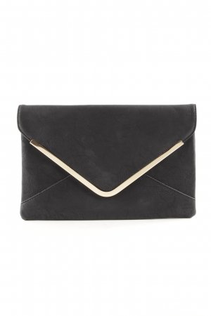 Valentina Clutch schwarz-goldfarben Business-Look