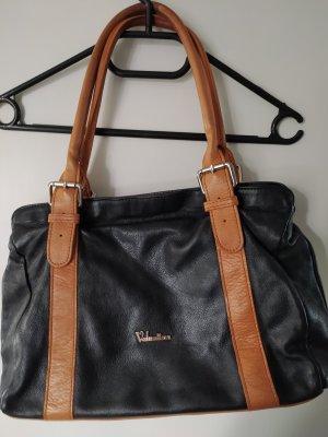 Valentina Handbag black-cognac-coloured