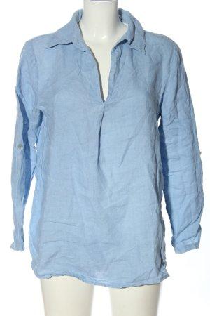 Valentina Naldi Lniana bluzka niebieski W stylu casual
