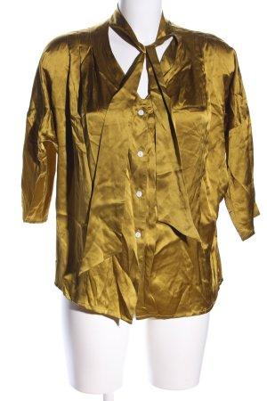 Valentine Gauthier Schluppen-Bluse goldfarben Elegant
