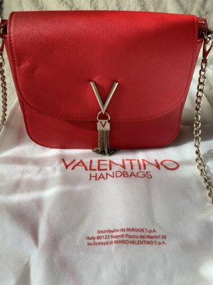 Mario Valentino Bolso barrel rojo