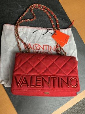 Valentino Bag Handtasche rot samt velvet