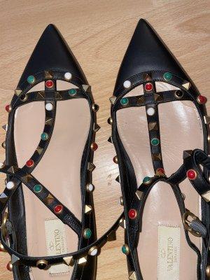 Valentino Ballerines à lacets noir