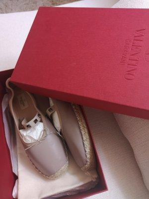 Valentino Ballerina's met bandjes beige