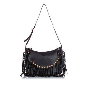 Valentino C-Rockee Leather Hobo Bag