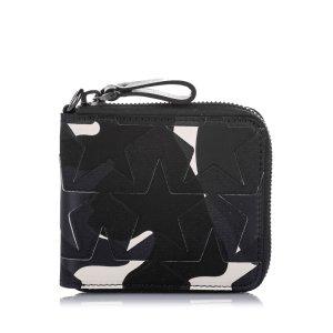 Valentino Camo Star Zip Around Canvas Small Wallet