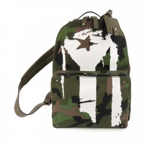 Valentino Camouflage Canvas Backpack