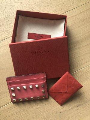 VALENTINO Cardholder gebraucht, sehr gut erhalten, pink mit Nieten.