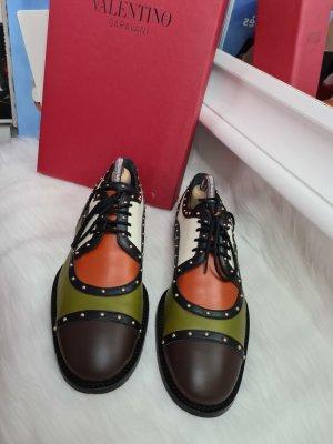 Valentino Colourblock Studded Brogues