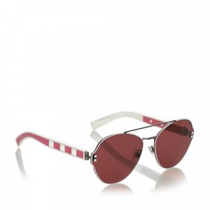 Valentino Crystal Embelished Aviator Sunglasses