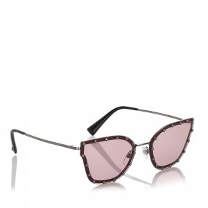 Valentino Crystal Embelished Square Sunglasses