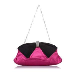 Valentino Crystal Embellished Bow Clutch Bag