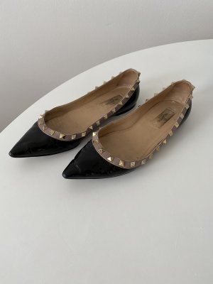 Valentino Patent Leather Ballerinas black