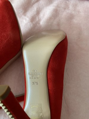 Valentino Garavani Cap Toes red leather