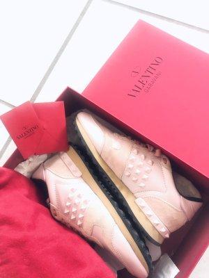 Valentino Damen Sneaker Leder suede rose rosa Sneaker Rockstud Rockrunner 36,5