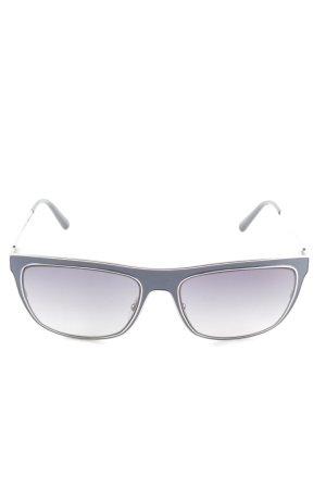 Valentino Hoekige zonnebril lila kleurverloop zakelijke stijl