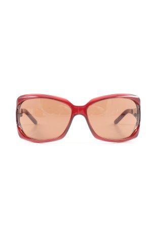 Valentino Angular Shaped Sunglasses red casual look