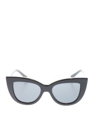 Valentino eckige Sonnenbrille schwarz Motivdruck Casual-Look
