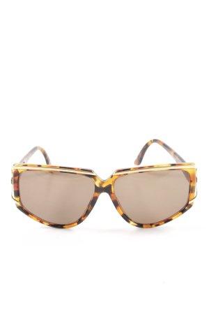 Valentino Gafas de sol cuadradas marrón-naranja claro estampado de leopardo