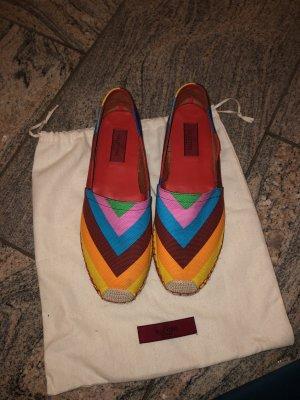 Valentino Boutique Mocassino multicolore Tessuto misto