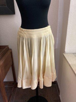 Valentino Plaid Skirt pale yellow