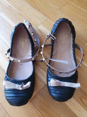 Valentino Garavani Ballerina's met bandjes zwart